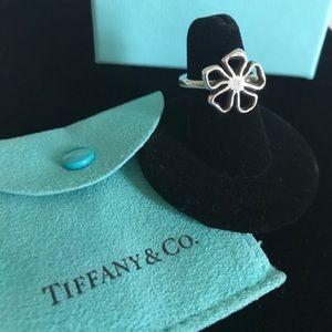 Tiffany Stirling Silver Open Daisy Flower Ring - 7